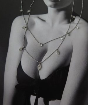 Necklace with diamond drops 1